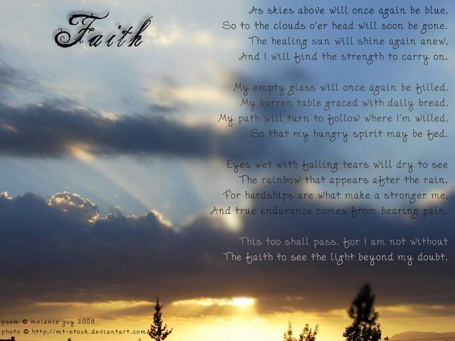 Faith Visual Poem by meljoy68 - English Poetry Comp March 2013