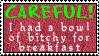 bowl of bitchy stamp by meljoy68