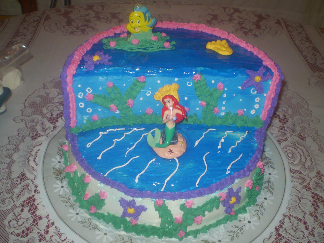 3d little mermaid cake by w1r14mu on deviantart for Mermaid arts and crafts