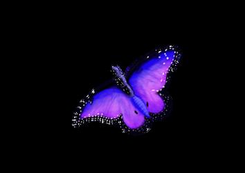 Purple Butterfly by enchantedbluedragon