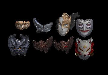 [MMD DL] Masks by Nuigurumi666