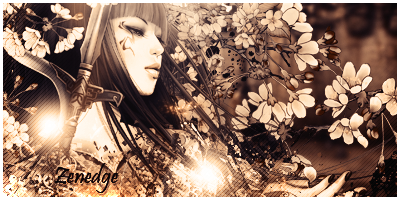 lady with flowers signature by Zenedge123