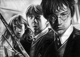 Harry, Ron, and Hermione by GabrielleBrickey