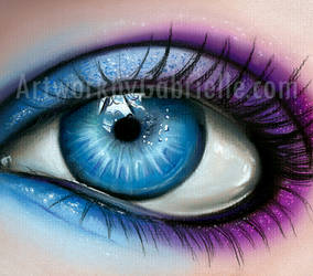 Blue and Purple Eye