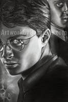 Harry and Draco Drawing by GabrielleBrickey