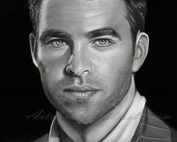 Chris Pine Drawing by GabrielleBrickey