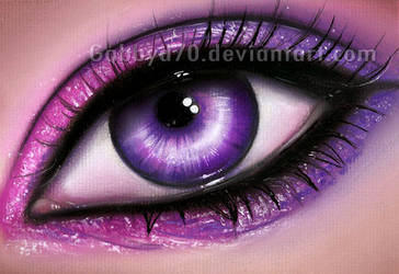 Purple Eye by GabrielleBrickey