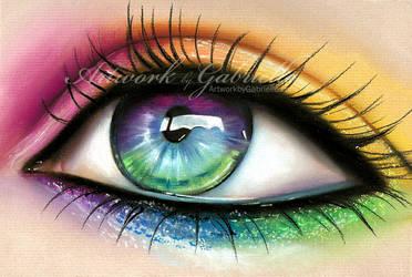 Rainbow Eye by GabrielleBrickey