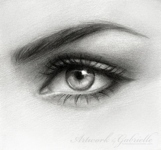 Girl Eyes Drawing Eye Drawing By...550