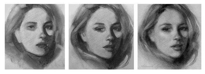 Charcoal Drawing Process