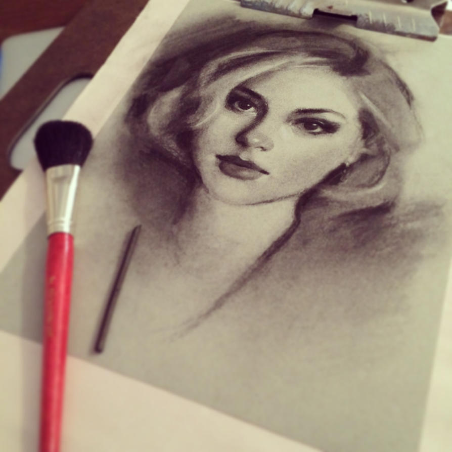 Charcoal Drawing WIP by GabrielleBrickey