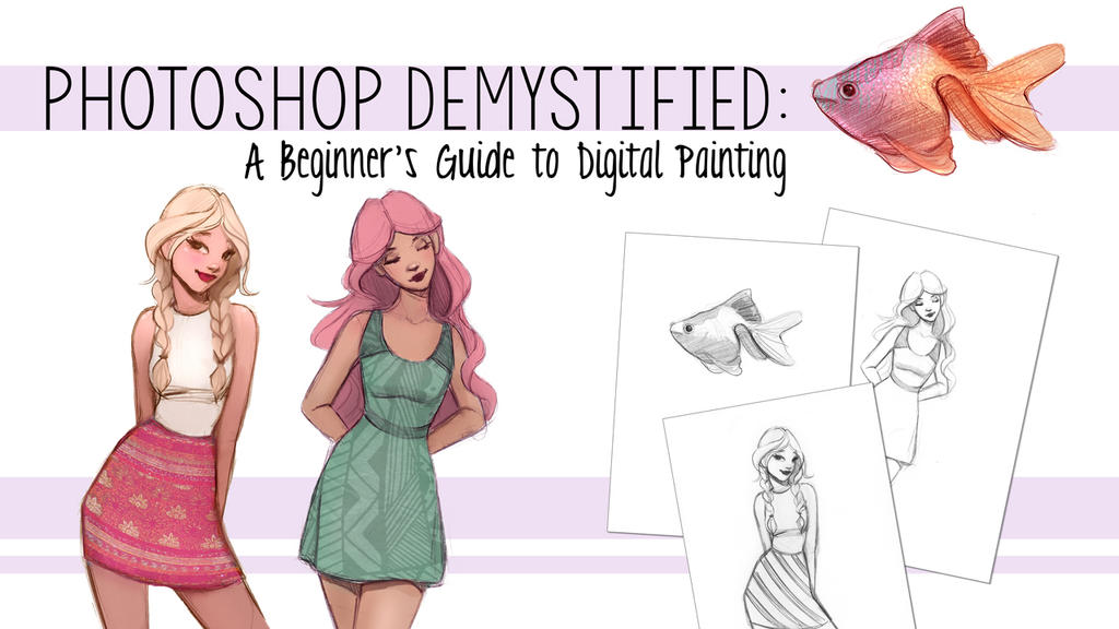 Photoshop Beginner Guide Drawing Painting Digital  by gabbyd70