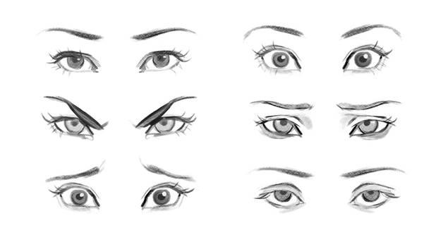 Eye Expressions Reference by GabrielleBrickey