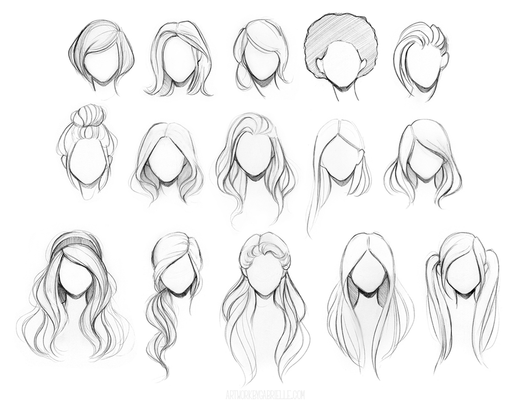Character hair reference sheet by gabbyd70 on deviantart for Drawing websites that you can draw on