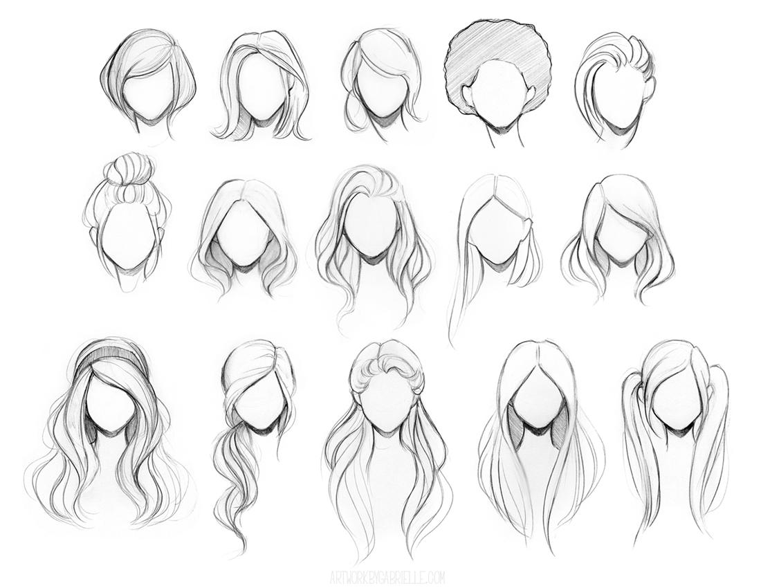 Character Hair Reference Sheet