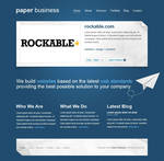 paper business PSD template