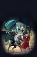 Terry Pratchett Mort cover illustration by katea