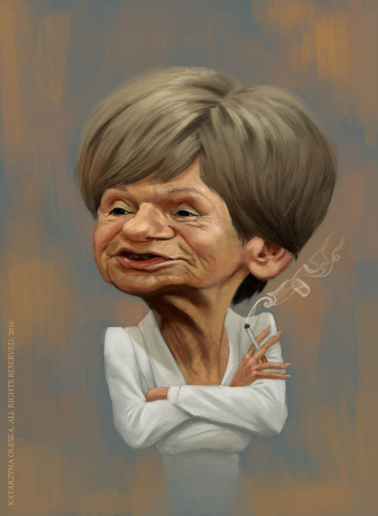 Caricature of Maria Czubaszek by katea