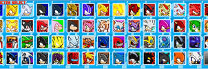 Sonic Clash Character Select Screen - UPDATED by Camunon