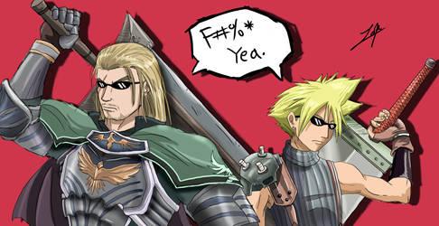 Cloud And Siegfried ::GIFT:: for Dante-Aran by girldirtbiker