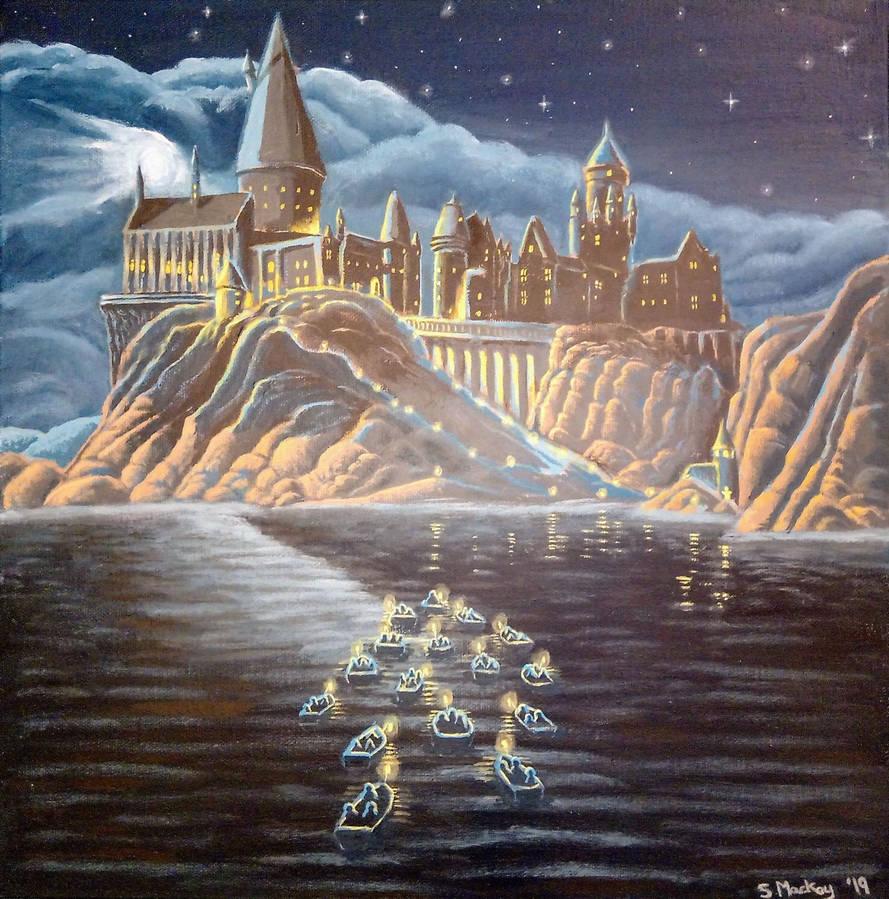 Hogwarts at Night (Harry Potter)