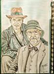 Indiana Jones and the last crusade (watercolour)