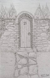 What's behind the gate? (Pencil)
