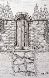 What's behind the gate? (Pen)