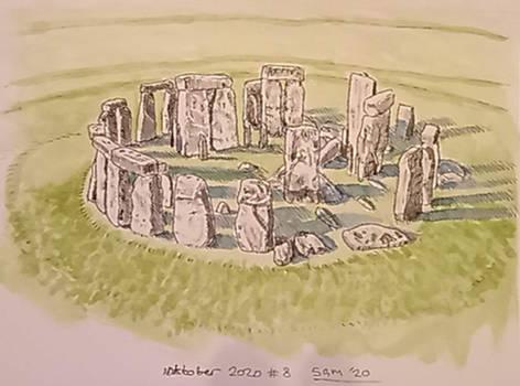 Inktober day 8 - Stonehenge