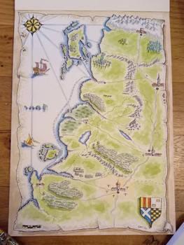 Inktober day 11 - Olde Map