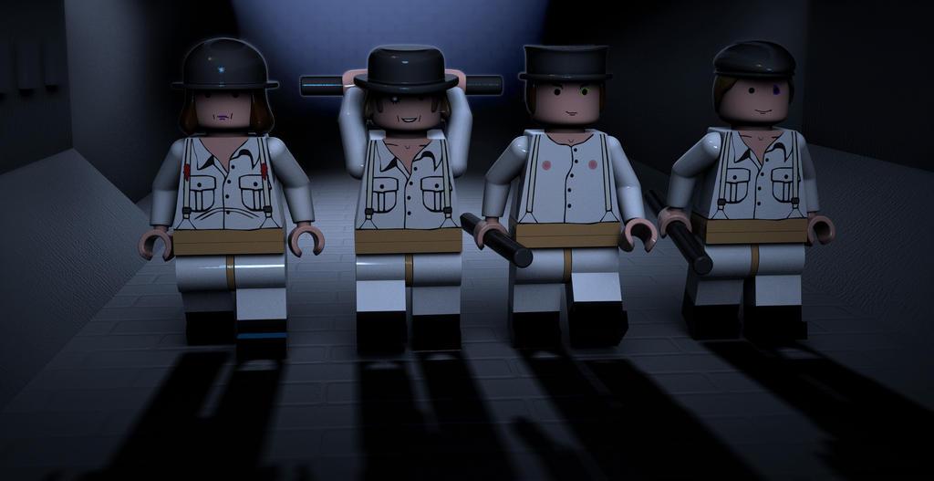 ORANGE LEGO CLOCKWORK by nachotamez