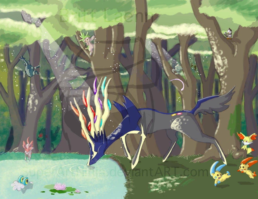 Serene Xerneas by SuperArtNinja