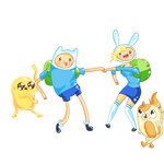 Adventure time with Finn and Fionna