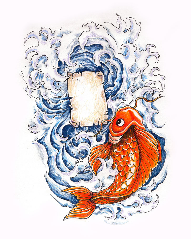 Koi fish 3 by whiterose54