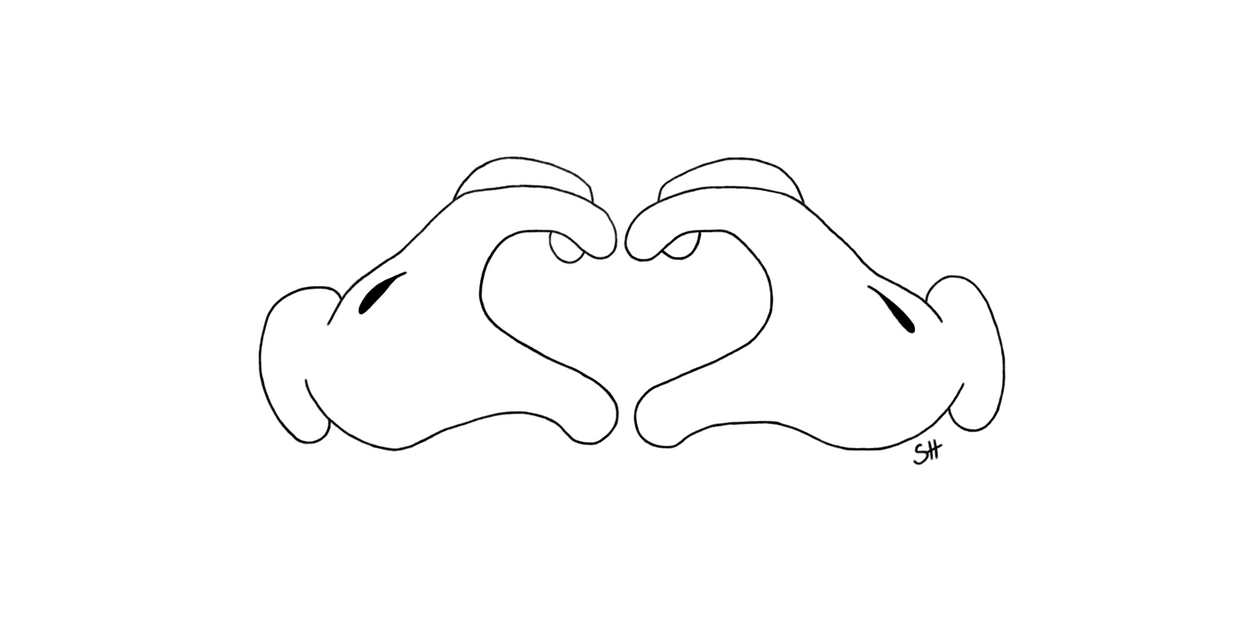 how to draw a mickey mouse hand