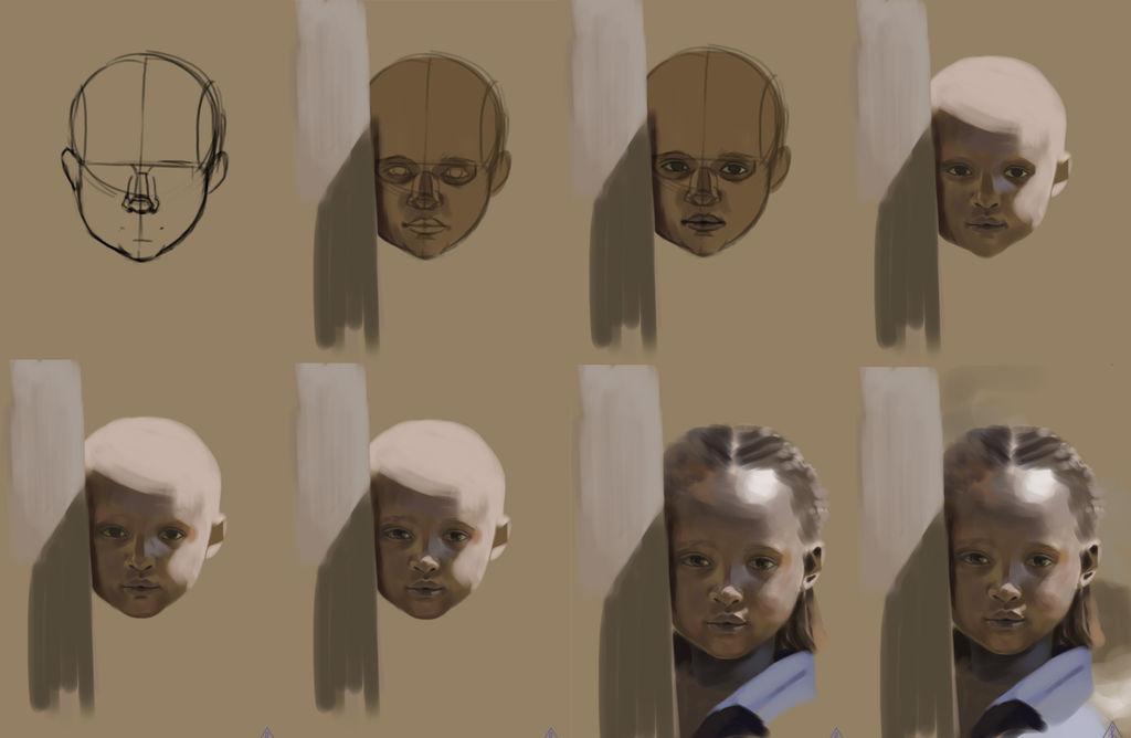 WIP kid portrait by 4leafcloverVN