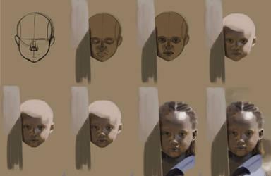 WIP kid portrait