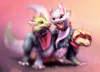#611 - Cerberus Puppy by RattoBello