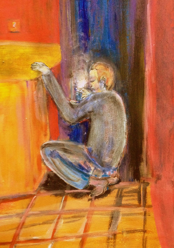 The Smoker in the Doorway by CheBertrand