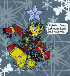 Elec Man and the Christmas Lights by terrastardroid