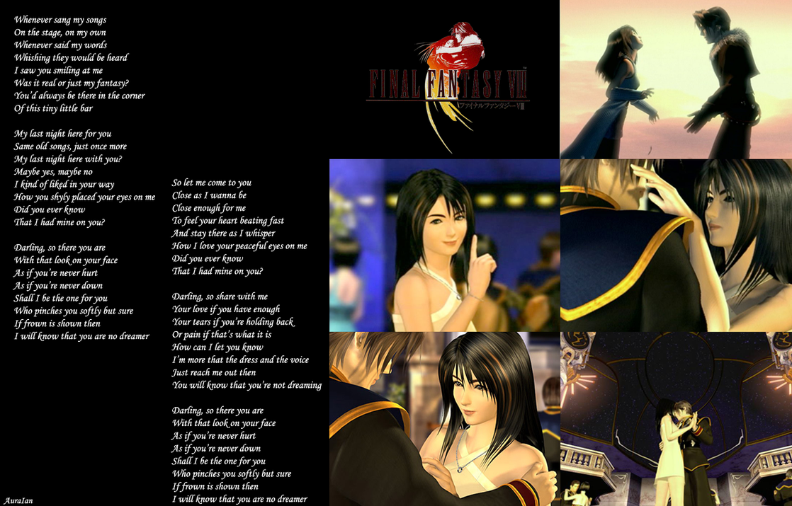 Squall And Rinoa Wallpaper Squall And Rinoa by Auraian