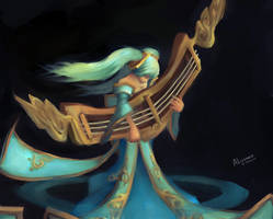 Sona The Maven of Strings - League of Legends by Mokyta