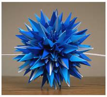All Blue Kusudama by wastedlimes