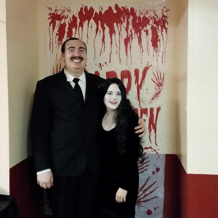 Gomez and Morticia Addams by unordinalwhimsey