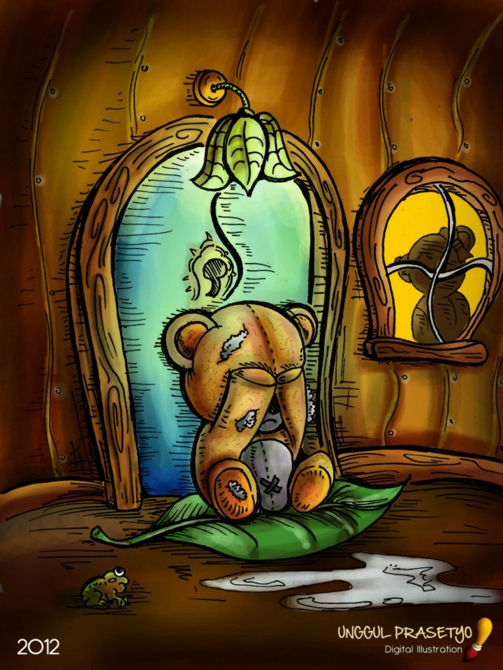 Sad Teddy Bear Drawing Pic | Drawing Images