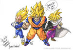 Goku and friends by Galtharllin