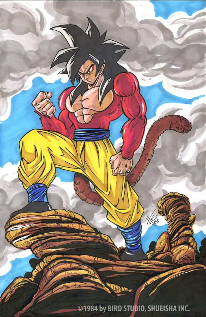 Goku Fase 4  By Galtharllin