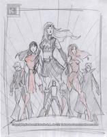 Sketch Cover Heroes. by Galtharllin