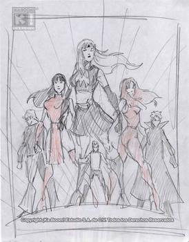 Sketch Cover Heroes.