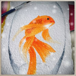 Sparkling Goldfish by SweetCarolyn
